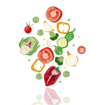 Chute de légumes.