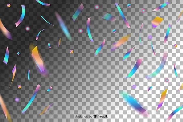 Chute de morceaux de confettis de paillettes brillantes