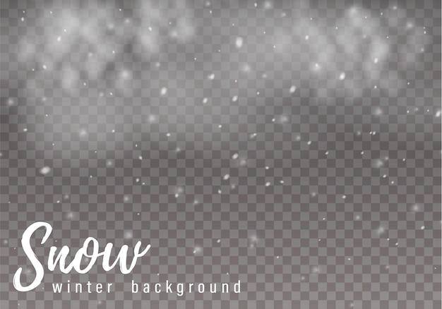 Chute de neige de noël. flocons de neige, fortes chutes de neige.