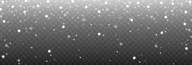 Chute de neige. poussière blanche.