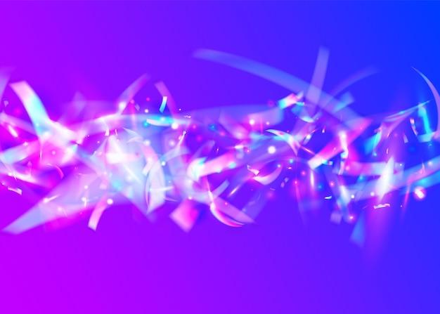 Chute de paillettes. toile de fond de festival rétro. feuille moderne. texture de carnaval. conception laser. effet de pépin. paillettes brillantes roses. art numérique. paillettes tombantes bleues