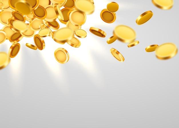 Chute de pièces, chute d'argent, vol de pièces d'or, pluie d'or.