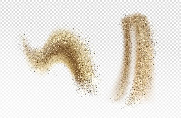 Chute de sable brun