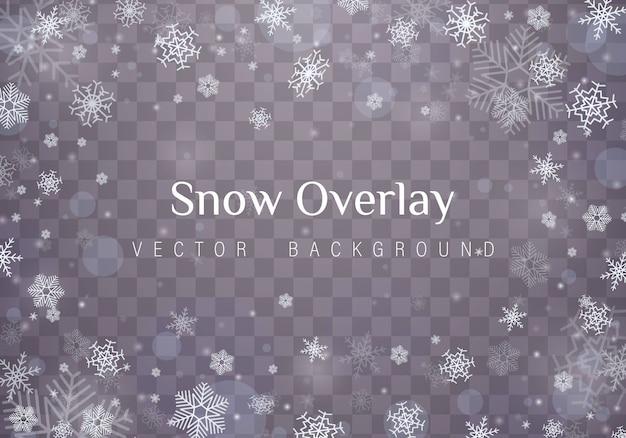 Chutes de flocons de neige de noël