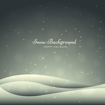 Chutes de neige fond dans le style de bokeh