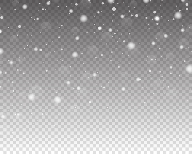 Chutes de neige isolé sur fond transparent