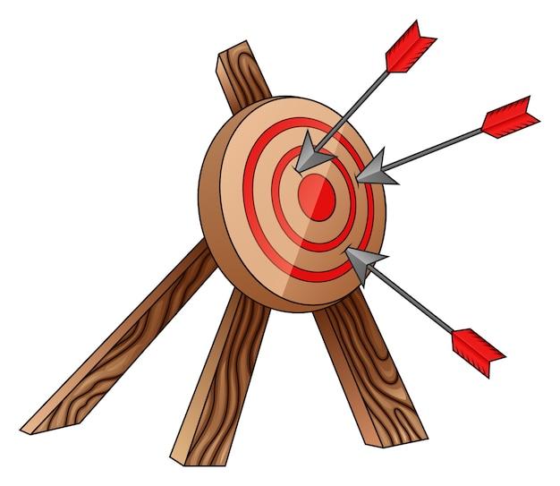 Cible et flèche de tir à l'arc