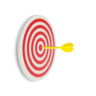 Cible de fléchettes. concept d'entreprise de succès. idée créative illustration 3d isolée
