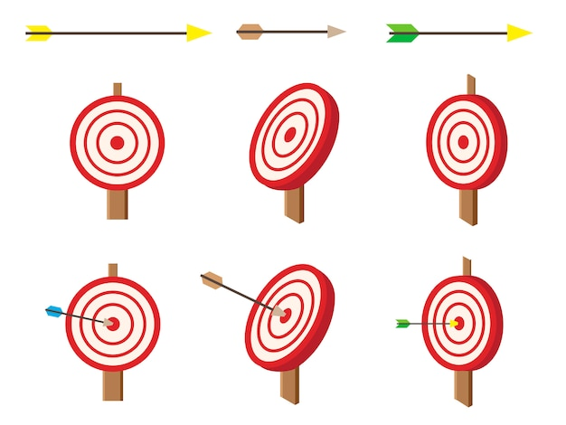 Cible isométrique avec jeu de flèches