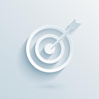 Cible de papier plat avec illustration vectorielle de fléchettes pour les entreprises