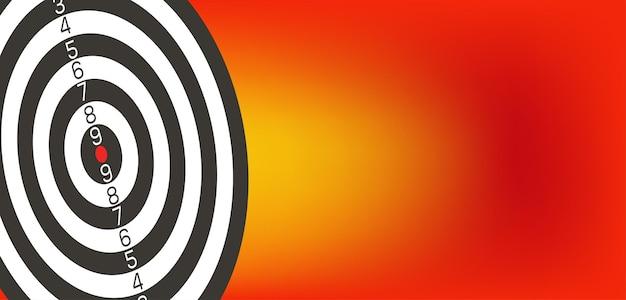 Cible avec réduction 3d dard de l'image vectorielle cible