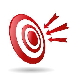 Cible de tir à l'arc avec des flèches icône de compétition de jeu de sport archer