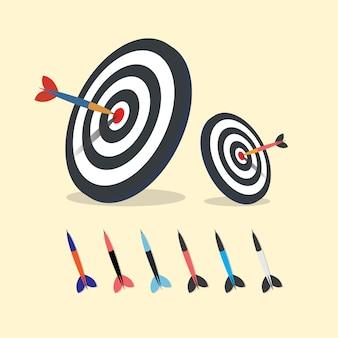 Cible de tir à l'arc avec des fléchettes