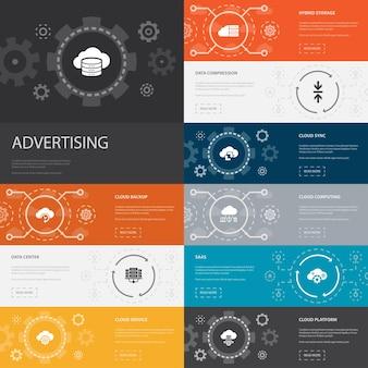 Cibler le modèle d'infographie à la mode. conception de ligne mince avec de grandes icônes d'idée, de tâche, d'objectif, de patience