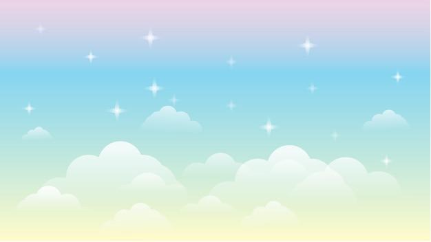 Ciel arc en ciel galaxie beau paysage fond
