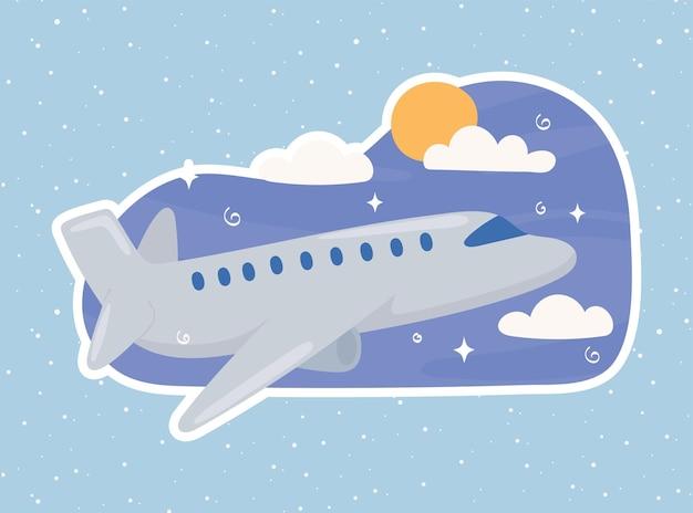 Ciel d'avion volant