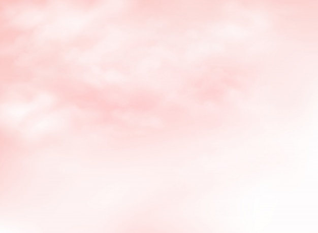 Ciel de corail vivant rose clair avec fond de nuages