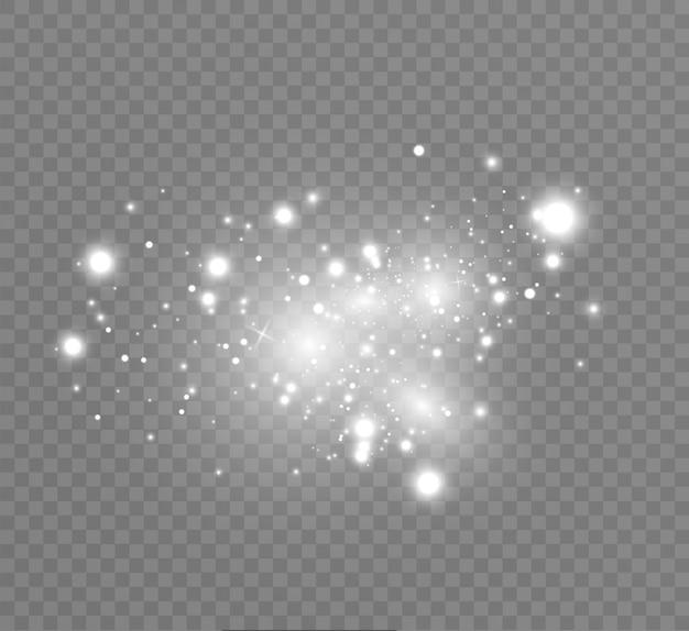 Ciel étoilé scintillant céleste poussière cosmique brillante avec le filament de l'univers.
