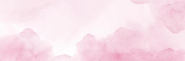 Ciel fantaisie aquarelle rose pastel peint à la main pour le fond.