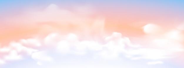 Ciel avec fond de nuage