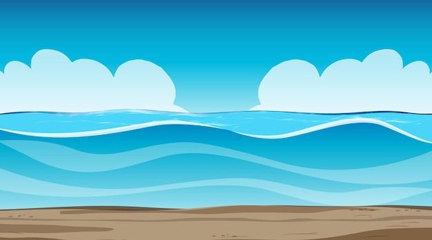 Ciel vide à la scène de jour avec paysage d'inondation vide