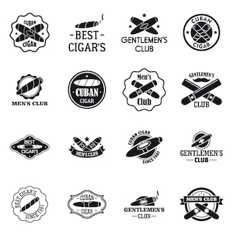Cigar logo set