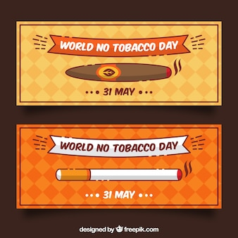 Cigarette et bannières simples