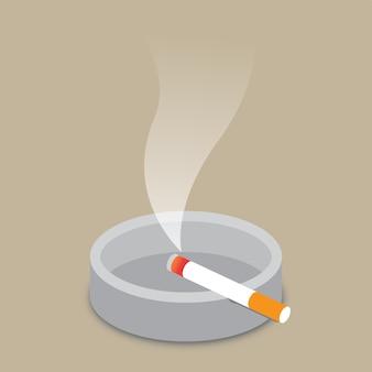Cigarette et cendrier