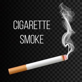 Cigarette réaliste, étapes de la brûlure.