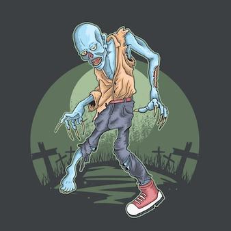 Cimetière marcheur zombie