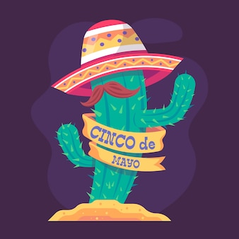 Cinco de mayo au design plat