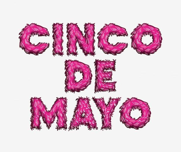 Cinco de mayo carte avec couleurs de police
