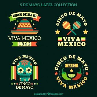 Cinco de mayo collection d'étiquettes