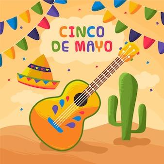 Cinco de mayo avec décoration