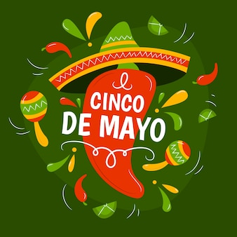 Cinco de mayo dessiné à la main