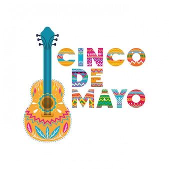 Cinco de mayo label guitare