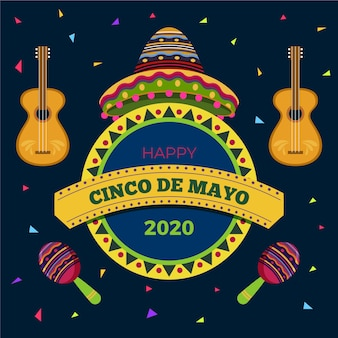 Cinco de mayo salutation avec instruments