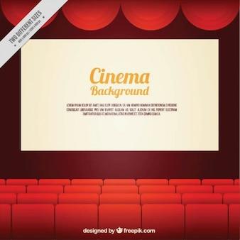Cinéma fond avec des fauteuils rouges