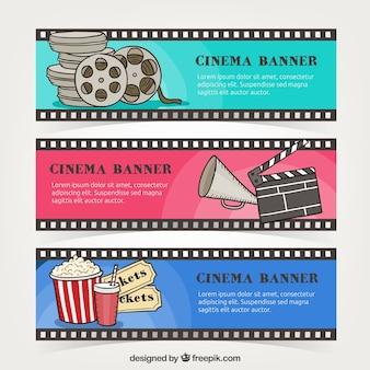 Cinéma multicolor bannières