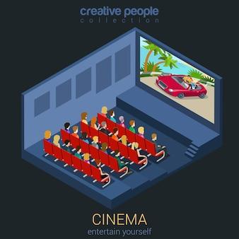 Cinéma regarder un film dans le concept de modèle de théâtre