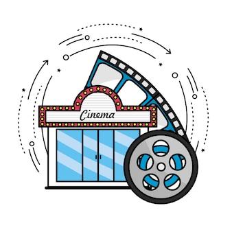 Cinéma avec scène de pellicule à filmer