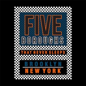 Cinq arrondissements à new york city
