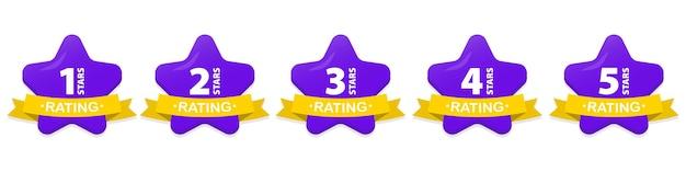 Cinq étoiles d'or. note de satisfaction et avis positif. évaluation de la qualité de la réputation des commentaires en ligne. évaluation de marchandises, rédaction d'avis de livraison, d'hôtels, pour un site web ou une application