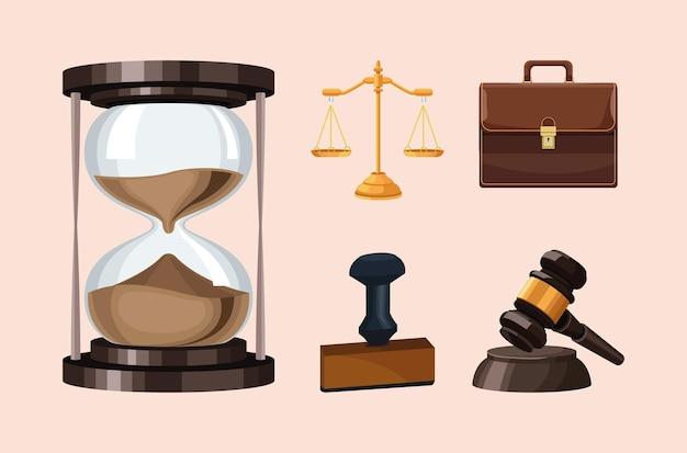 Cinq icônes de justice de droit