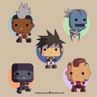 Cinq personnages pour les jeux vidéo