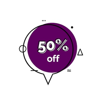Cinquante pour cent de lettrage