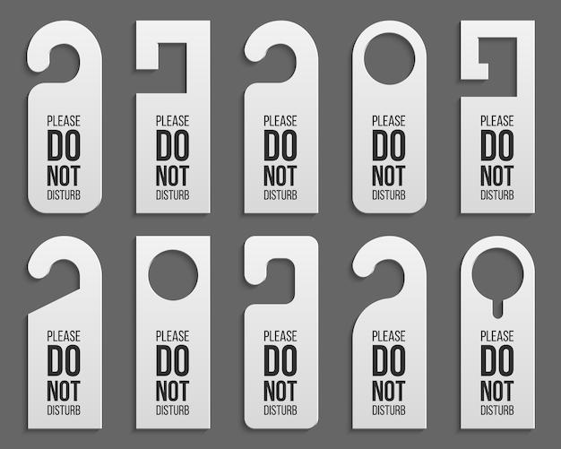 Cintres en plastique pour serrure de poignée de porte - ne pas déranger.