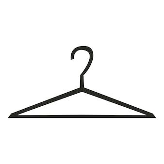 Cintres silhouette. concept de logo de stockage de vêtements. vektor sur fond blanc.