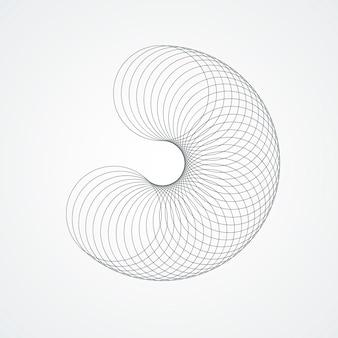 Circle connect twirl. design futuriste.