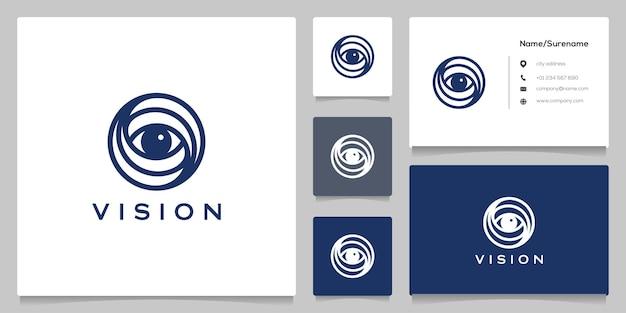 Circle eye outline concepts simples avec carte de visite